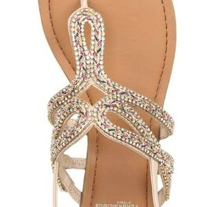 Fergalicious Shimmer Womens' Slingback Sandals